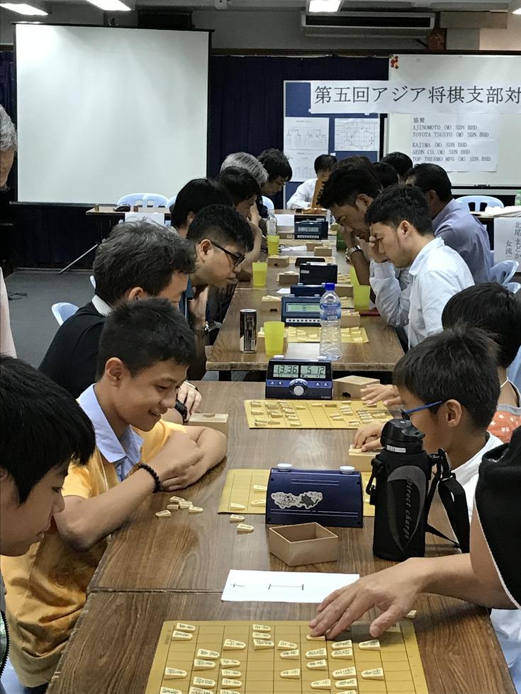 アジア将棋支部対抗戦の対局風景