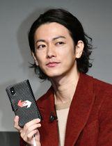 「ポケモンGO」の新CM発表会に登場した佐藤健=20日、東京都内