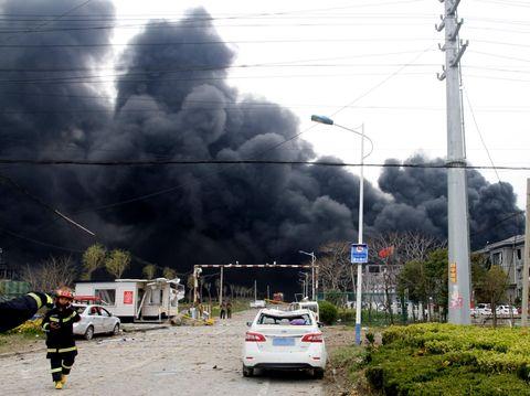 中国で工場爆発、6人死亡