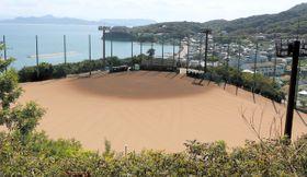 来年8月の全国離島交流中学生野球大会でメイン会場となる予定の高見山グラウンド=香川県土庄町