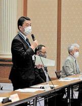 連携会議の設立経緯、政府や東電への姿勢を説明する村井知事