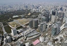 東京都心(共同通信社ヘリから)