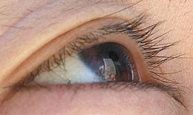 撮った画像の瞳の部分に、ビルがくっきり映る