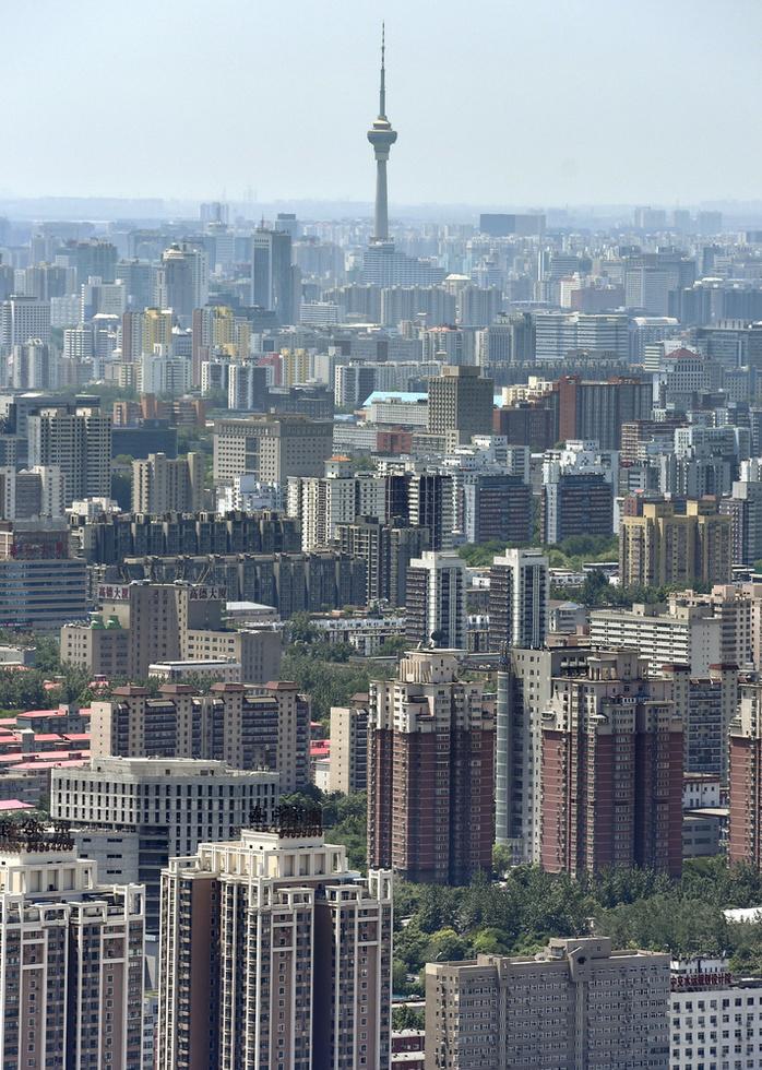 北京のマンション群(撮影・岩崎稔、共同)