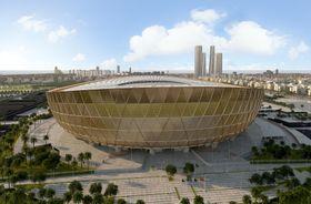 サッカーの2022年W杯カタール大会で、会場となるルサイル競技場の完成イメージ(共同)