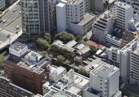 積水ハウスが購入代金をだまし取られた土地(中央)=2017年9月、東京都品川区