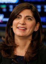 米ニューヨーク証券取引所グループの社長に就任するステイシー・カニンガム氏=22日、ニューヨーク(ロイター=共同)