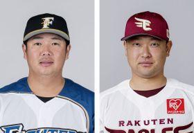 横尾俊建内野手(左)、池田隆英投手
