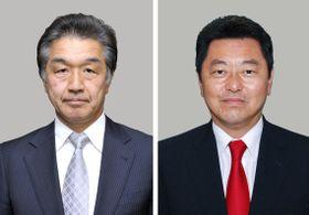 自民党の赤池誠章参院議員(左)、池田佳隆衆院議員