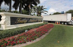 フロリダ州マイアミ近郊にある「トランプ・ナショナル・ドラル・マイアミ」=17日、ドラル(ゲッティ=共同)