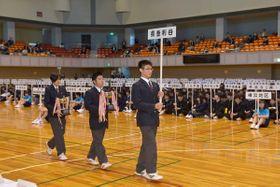 多くの高校生アスリートにとって集大成となる県総体=2019年4月、トッケイセキュリティ平塚総合体育館