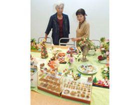 粘土の料理、精巧に 大垣市でクレイクラフト展