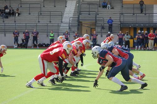 大柄な選手が多く、迫力のあるプレーが見られるスウェーデンのリーグ戦=写真提供・山本慎治さん