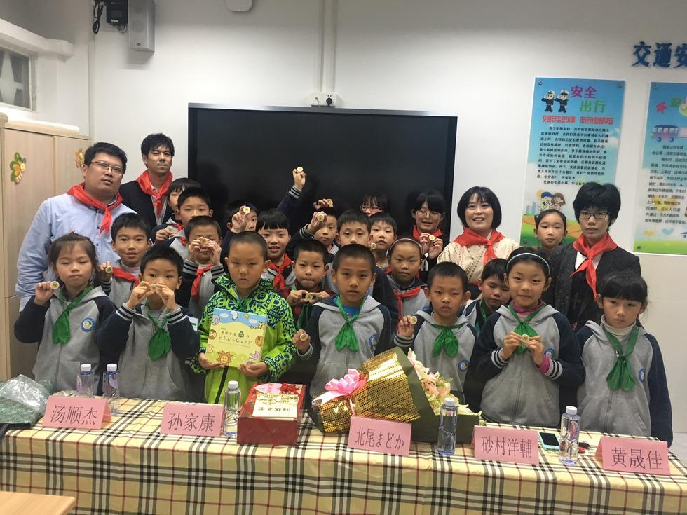 授業を受けた上海の子どもたち