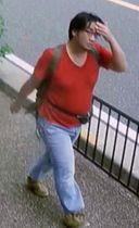 7月16日、京都府内で防犯カメラに写った青葉真司容疑者