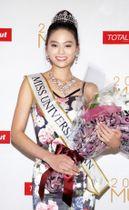 2018年のミス・ユニバース日本代表に選ばれた加藤遊海さん=東京都内