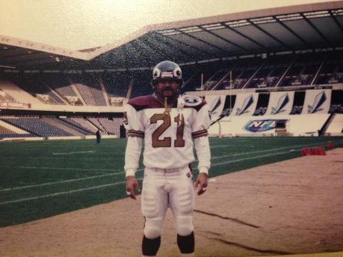 1998年4月、スコットランドのチームとの試合で遠征した多聞さん