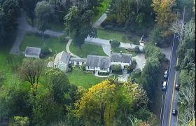 米著名投資家ジョージ・ソロス氏の自宅=23日、米ニューヨーク州(AP=共同)