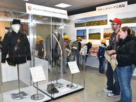 南北戦争のゲティスバーグの戦いで兵士が着用したとされる軍服=不破郡関ケ原町関ケ原、町歴史民俗資料館