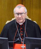 バチカンのピエトロ・パロリン国務長官=11月、バチカン