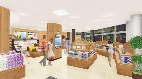 1階ショッピングコーナーの完成イメージ