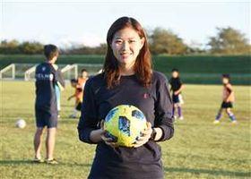 U―19アジア選手権に出場する武田選手=6日、能代市落合の市落合球技場