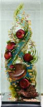 準グランプリを受賞した梅木藤丸さんの作品(日本洋菓子協会連合会提供)
