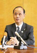 岡山宣言への思いや会合の成果について話す大森市長