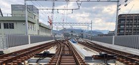 イベントで見学できるJR長崎線の高架上=長崎市尾上町(JR九州長崎支社提供)
