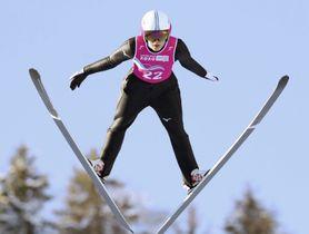 ノルディックスキーのジャンプ女子で5位だった久保田真知子=フランス東部(ゲッティ=共同)