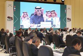 リヤドで開幕したG20財務相・中央銀行総裁会議=22日(G20 SAUDI ARABIA提供・共同)