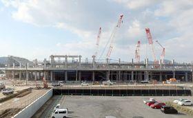 NHK大河ドラマ館の開設が内定した「京都スタジアム(仮称)」(京都府亀岡市)