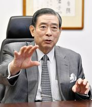 全国の地銀との連携を訴えるSBIホールディングスの北尾吉孝社長=8月、東京都港区