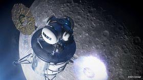 米アルテミス計画で飛行士が乗る宇宙船のイメージの例(NASA提供・共同)