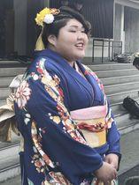 東海大の卒業式に出席した柔道女子の朝比奈沙羅=25日、神奈川県平塚市