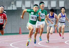 男子400リレー、立教新座が2連覇 陸上埼玉県高校総体