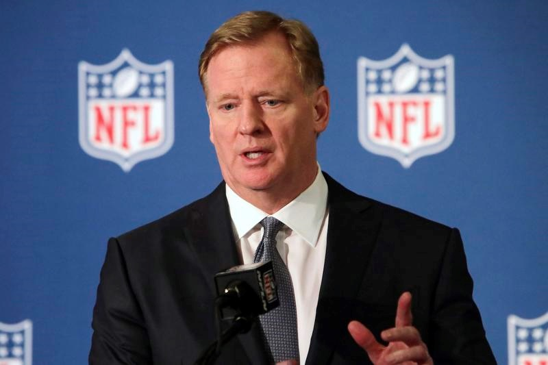 NFLのロジャー・グッデル・コミッショナー(AP=共同)