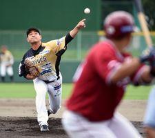 野球BCリーグ栃木、逆転負け 楽天に3-8