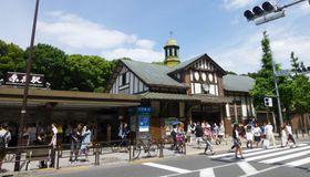 JR原宿駅の駅舎=2016年6月撮影、東京都渋谷区