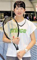 ITFが主催するジュニア公式戦の女子ダブルスを初制覇し、一層の活躍を誓う松原選手